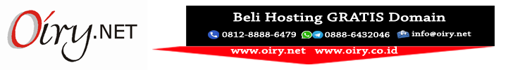 BELI HOSTING GRATIS DOMAIN - OIRY.NET MAJENANG CILACAP: Melayani Domain, Hosting, Antivirus, Dealer Pulsa, Maintenance Website, Design, dll