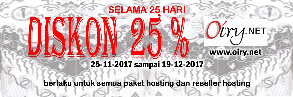 Discount 25 Persen - Hari Guru Nasional